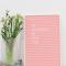 Roze letterbord