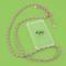Transparante telefoonhoes + regenboogkleurige cord