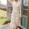 Lange jurk met kraagje