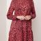 Rode jurk met luipaardprint
