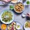 Hoofdgerecht: mezzebuffet met als eerste gerecht tabouleh