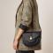 Zwarte crossbody bag met goudkleurige details