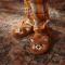 Rode panda pantoffels