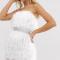 Witte bustierjurk met riem bezet met nepdiamanten