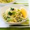 Spaghetti met courgette, citroen en feta
