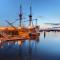 Vier de Mayflower's-zeiltocht