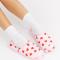 Roze slippers met hartjesprint
