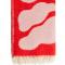Wollen tv-deken in roze en rood