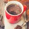 Nutella lava cake in een mok