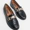 Zwarte loafers in croco