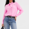 Roze blouse met pussy bow
