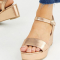 Sandalen met plateauzolen