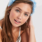 Gevlochten diadeem in babyblauw