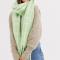 Pistachegroene sjaal met witte ruiten