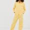 Gele boilersuit met rits en lange mouwen