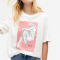 T-shirt met schets vrouw