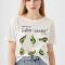 T-shirt met avocado's