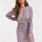 Lichtblauwe midi-jurk met oranje paisleyprint