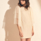 Mini-jurk met statementmouwen en rugdecolleté
