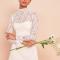 Kanten mini-jurk met lange mouwen