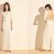 Maxi-jurk met kanten details en driekwartmouwen 'Julia'