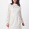 Korte kanten jurk met opstaand kraagje