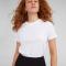 Wit T-shirt met ronde hals