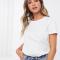 Wit T-shirt met ronde hals uit organisch katoen