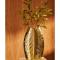 Goudkleurige vaas in de vorm van een blad (36,5 cm)