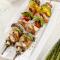 Gegrilde vegetarische saté met chimichurri