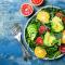 Groene salade met (bloed)sinaasappel en pompelmoes