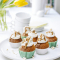 Cupcakes met karamel en popcorn