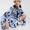 Midi-jurk in abstract print