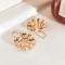 Gouden oorbellen met schelp