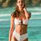 Witte bikini met houten detail