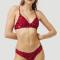 Rode bikiniset met luipaardprint