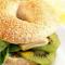 Bagel met kiwi en Zwitserse kaas (4 pers.)