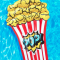 Pool float in de vorm van een doosje popcorn