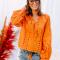Blouse in trendkleur oranje