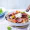 Rigatoni met gegrilde groenten en chorizo