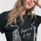 Zwart T-shirt met witte tijgers