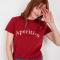 RoodT-shirt met opschrift 'Aperitivo'