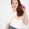 Wit T-shirt met opschrift 'City lover'