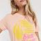 Roze T-shirt met opschrift 'San Diego'