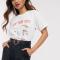 Wit T-shirt met opschrift 'New York City'