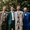 De bruidegom en zijn bruidsjonkers
