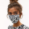 Mondmasker met zebraprint
