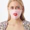 Trio mondmasker met lippen