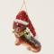 Teckel met kerstmuts