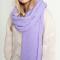 Gebreide XL sjaal met ribbels